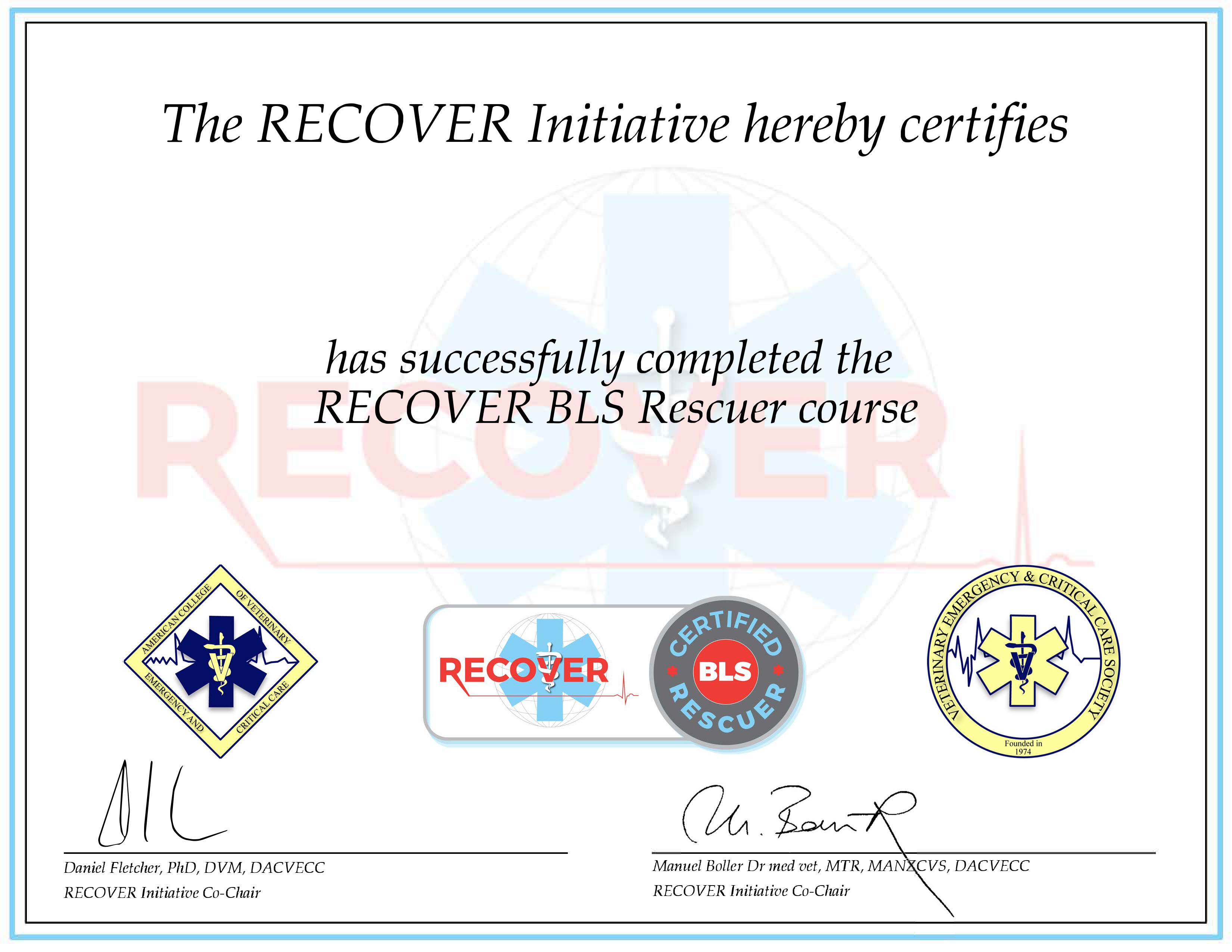 RECOVER Certified BLS Rescuer