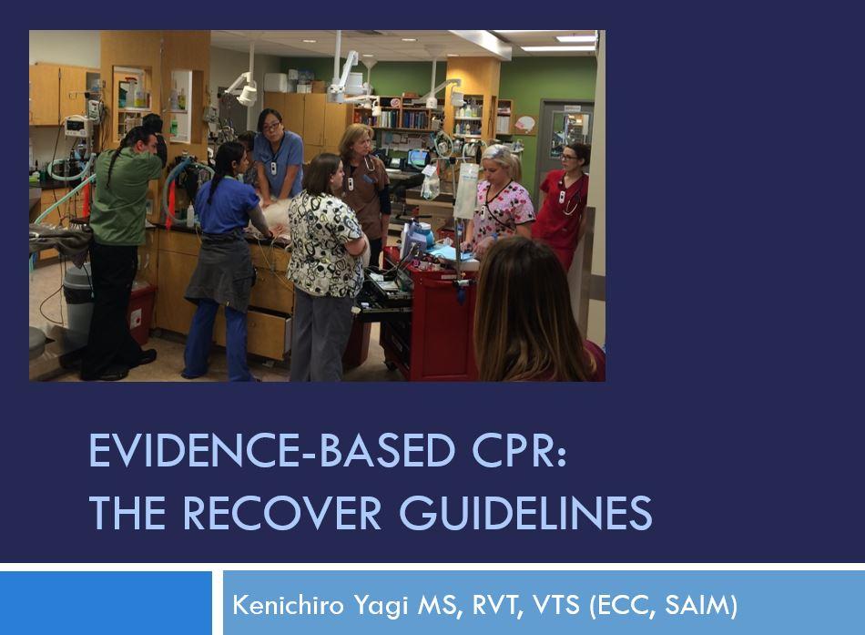 Dec 10, 2018 NAVTA Webinar RECOVER CPR CE Certificate *CODE REQUIRED*