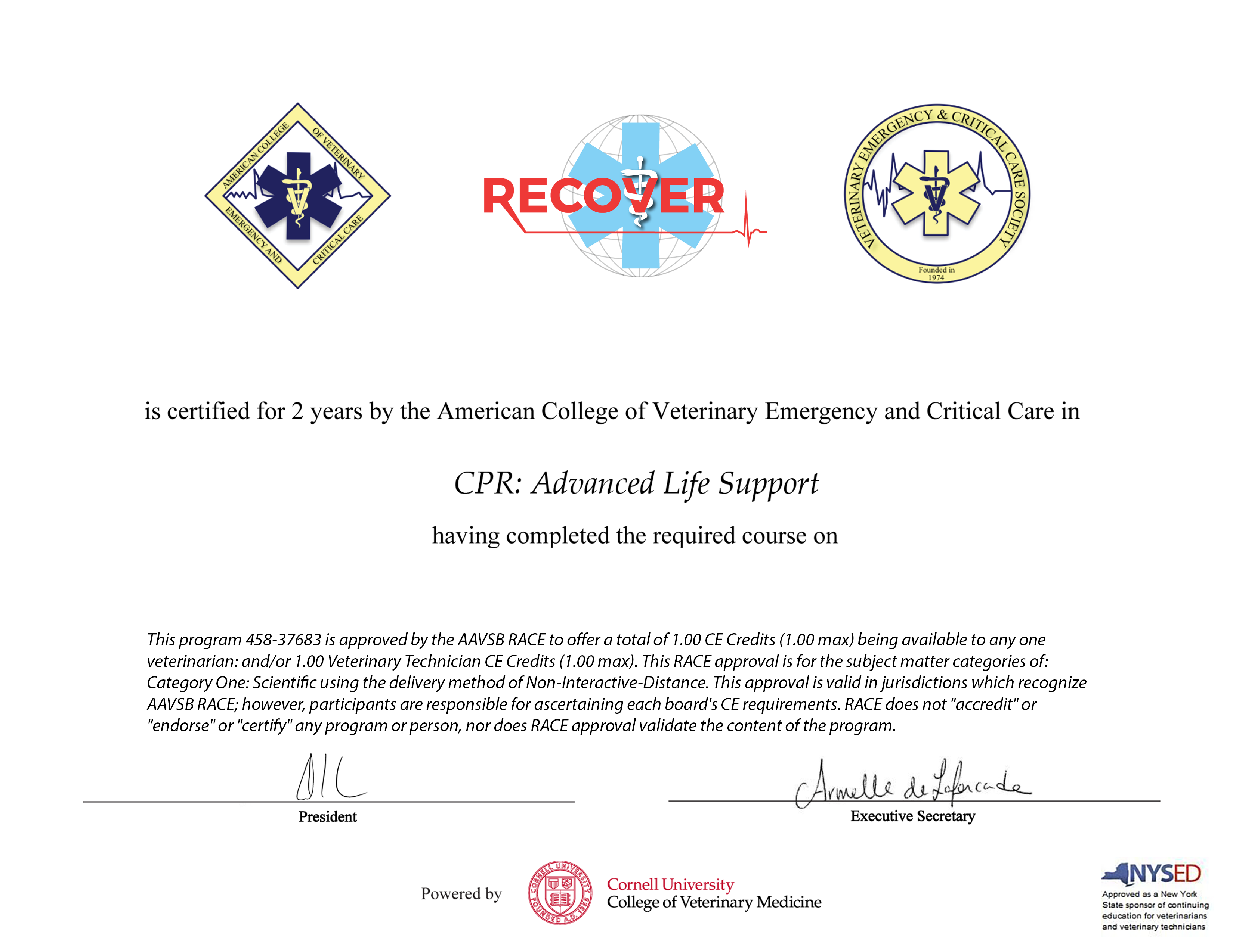 CPR: Advanced Life Support Recertification