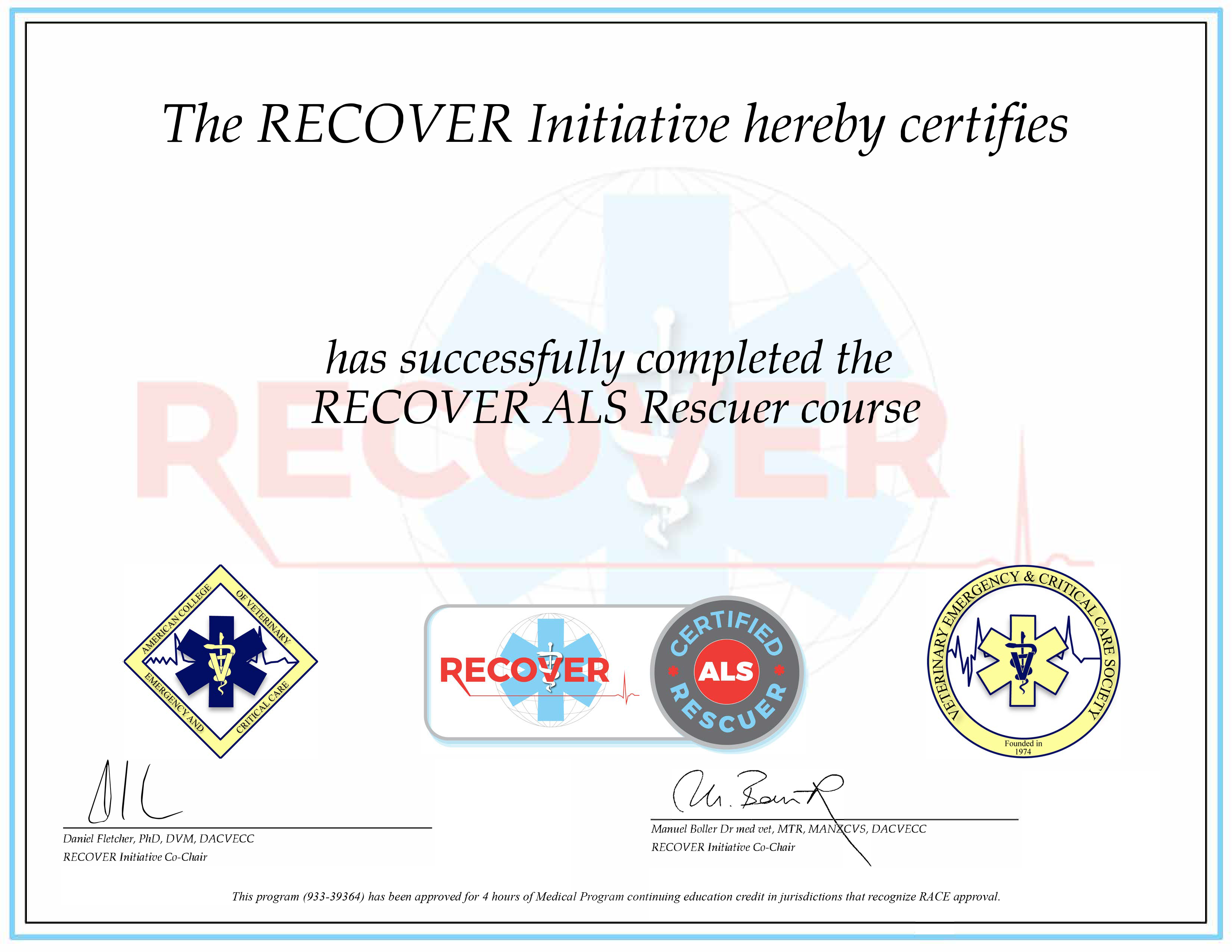 RECOVER Certified ALS Rescuer (RACE)
